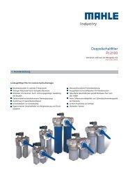 Doppelschaltfilter Pi 2100 - MAHLE Industry - Filtration