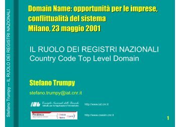 Il ruolo delle Registration Authorities - Indicam