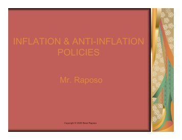 Anti-Inflation Policy and the Phillips Curve