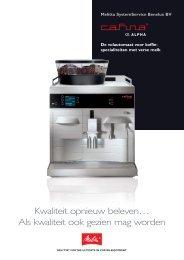 Melitta Cafina Alpha brochure - Koffieautomaat.nl