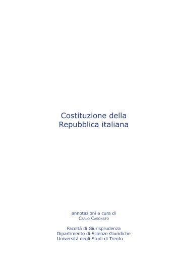 COSTITUZIONE 2005 - Università degli Studi di Trento