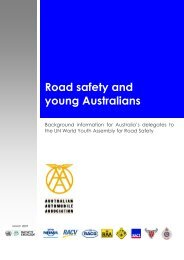 Road safety and young Australians - Australian Automobile ...