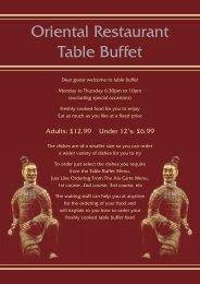 Download the Oriental Menu - UK Restaurant Menus