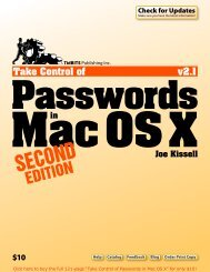 Take Control of Passwords in Mac OS X, Second Edition (2.1 ...