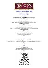 Saisonkarte ab 08. Oktober 2008 Frisch für den Tag…. - Ess Null Vier