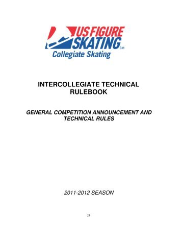 usfsa intercollegiate technical rulebook - US Figure Skating