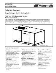 GR4GA Series Single Packaged Gas/Electric Units - Nordyne