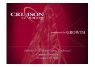 1100 Wed 1 Crimson Exploration REVISED - Jefferies