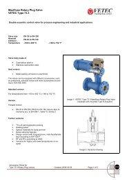 Maxifluss Rotary Plug Valve VETEC Type 73.3