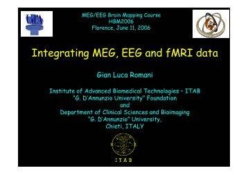 Integrating MEG, EEG and fMRI data