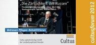 Cultus cultus forum 2012 - Cultus ggmbh Dresden