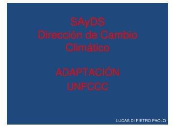 Resultados en Adaptación - Secretaria de Ambiente y Desarrollo ...