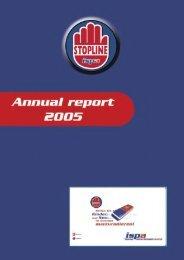 Annual Report 2005 - Stopline