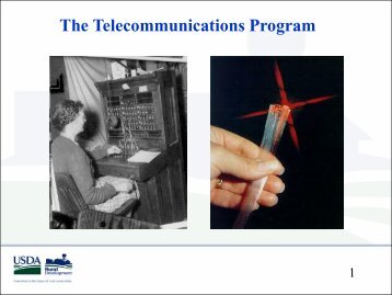 USDA's Telecommunications Program - HRSA