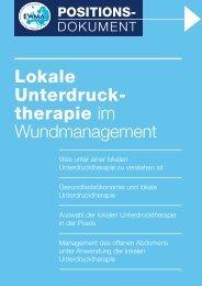 Gesundheitsökonomie und lokale Unterdrucktherapie - EWMA