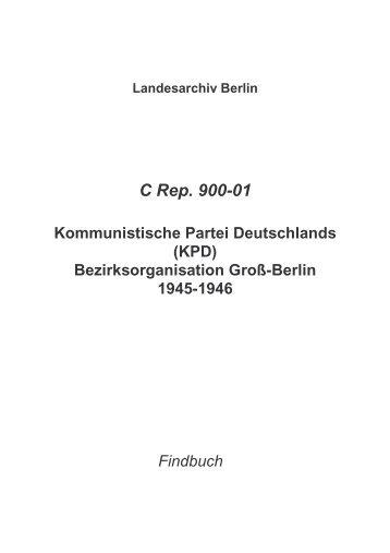 C Rep. 900-01 - Landesarchiv Berlin