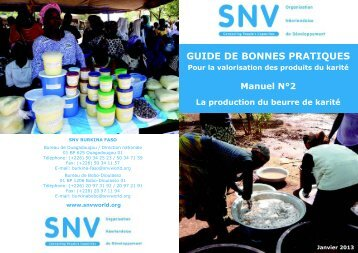 GUIDE DE BONNES PRATIQUES Pour la valorisation des ... - SNV