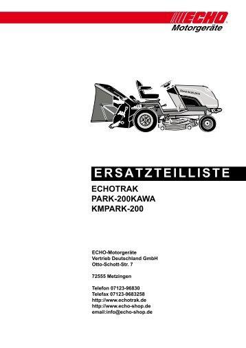 Ersatzteilliste PARK 200KAWA - Gartentechnik-Bremen