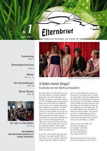 Elternbrief Ostern 2013 - Freie Waldorfschule Kiel