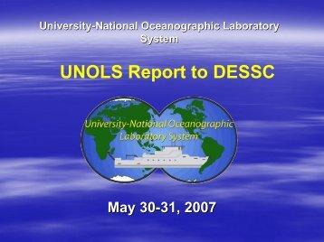 UNOLS Report