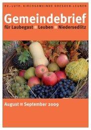 Gemeindebrief - Ev.-Luth. Kirchgemeinde Dresden-Leuben