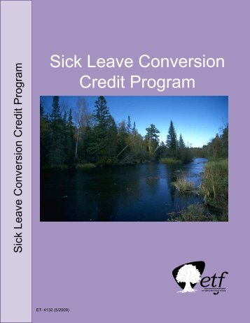 Accumulated Sick Leave Conversion Credit Program - ETF