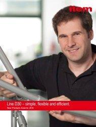 Line D30 – simple, flexible and efficient. - item Industrietechnik GmbH