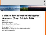 Funktion der Speicher im intelligenten Stromnetz (Smart Grid)