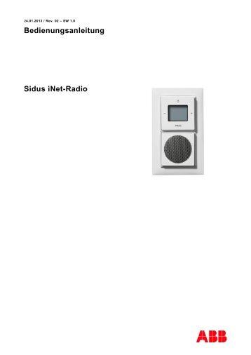 Bedienungsanleitung Sidus iNet-Radio - ABB Schweiz AG ...