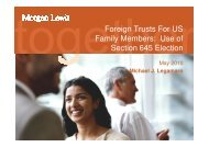 Foreign Trusts For US Family Members: Use of Section 645 Election