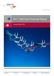 GROUPE STERIA SCA_ 2011 Half Year Financial Report_VE