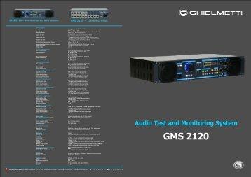 Audio Monitoring System white&rose; nois, 3 output GMS ... - Ghielmetti