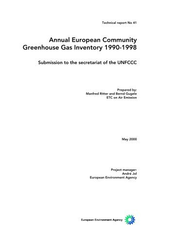 Greenhouse Gas Inventory 1990-1998