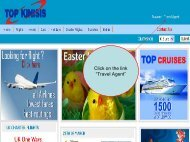 """Click on the link """"Travel Agent"""" - Topkinisis Travel"""