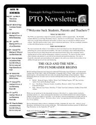 2009 2010 tk pto fall newsletter - Thornapple-Kellogg Schools