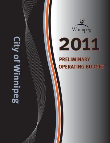 2011 Operating Budget - City of Winnipeg