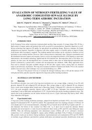 evaluation of nitrogen fertilizing value of anaerobic ... - Ramiran