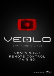 VEOLO 3-IN-1 REMOTE CONTROL PAIRING - AC Ryan