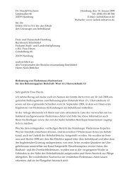 Brief der ISEBEK-INITIATIVE an den Bezirk