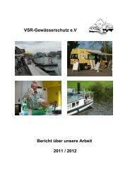 Tätigkeitsbericht 2011 /2012 - VSR-Gewässerschutz