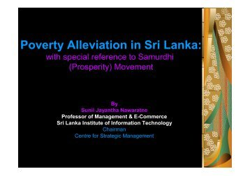 Poverty Alleviation in Sri Lanka:
