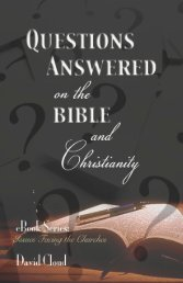 Questions Answered on the Bible & Christianity - Way of Life Literature