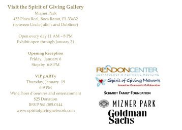 Visit the Spirit of Giving Gallery - Blacktie South Florida