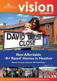 September Vision 2011 - North West Leicestershire District Council
