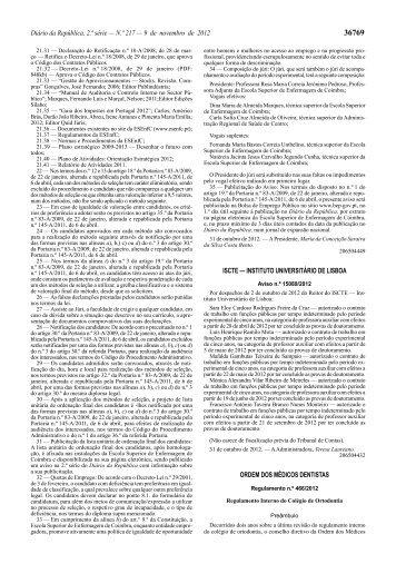 Regulamento n.º 466/2012 - Ordem dos Médicos Dentistas