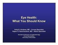 Eye Health - University of Rochester Medical Center