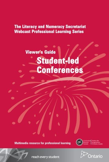 Viewers Guide Student-led Conferences