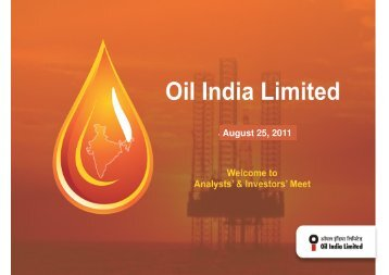 August 25, 2011 - Oil India Limited