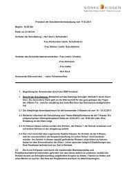Protokoll der Schulelternbeiratssitzung vom 17.03.2011 Beginn: 19 ...