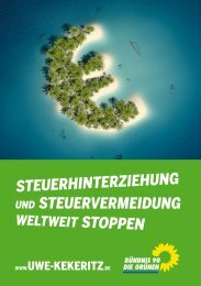steuerhinterziehung und steuervermeidung - Uwe Kekeritz, MdB